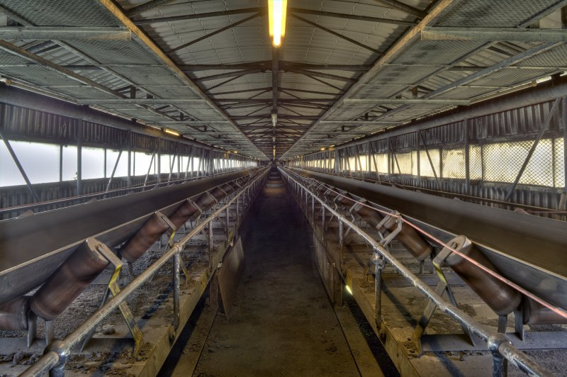 Interior. HDR Photo of coal conveyor system.