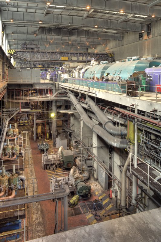 Interior. A general view of the turbine hall.