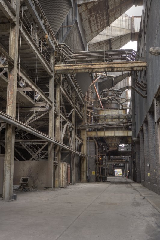 HDR Photo. General view into coal handling bay.