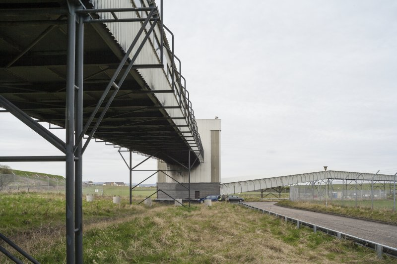 General view of conveyor system and tower 3 from the East.