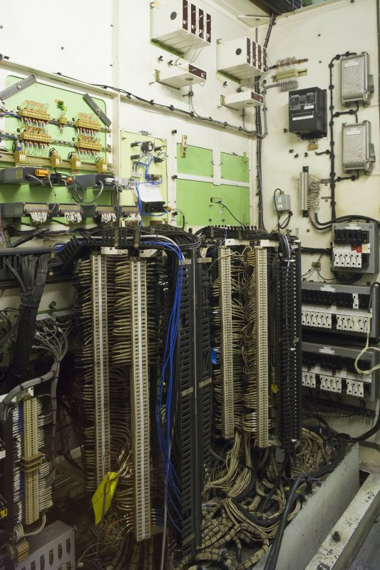 Interior. View showing wiring behind control panel.