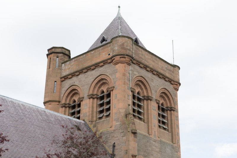 View of top of tower from north west