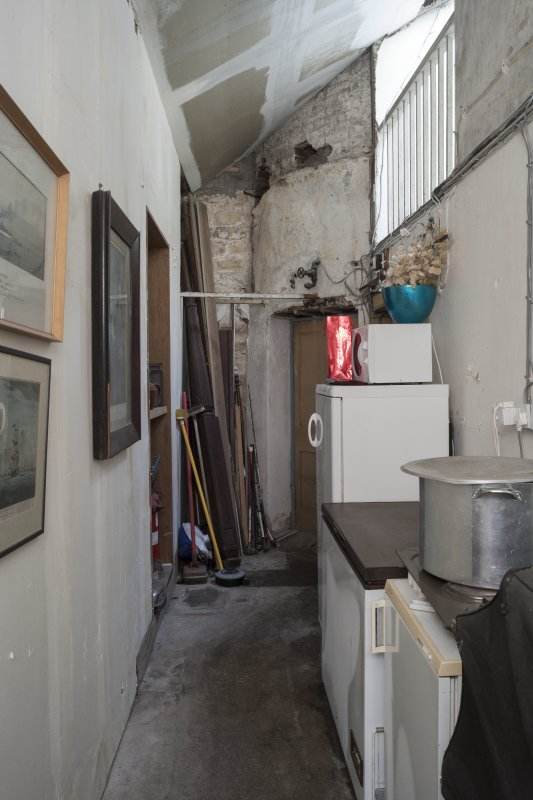 Interior. View looking South towards old Kitchen on South wing.