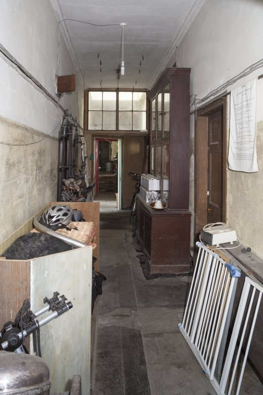 Interior. View of corridor outside old Kitchen.