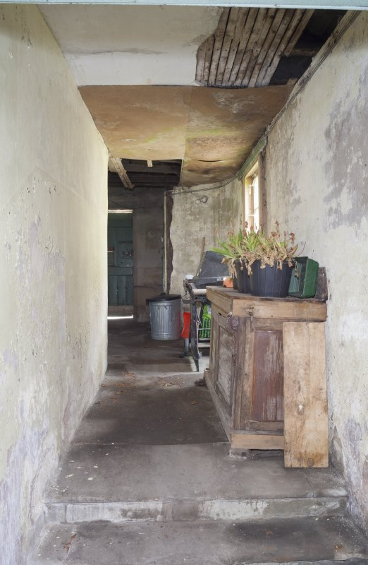 Interior. View of corridor outside Caretakers room.
