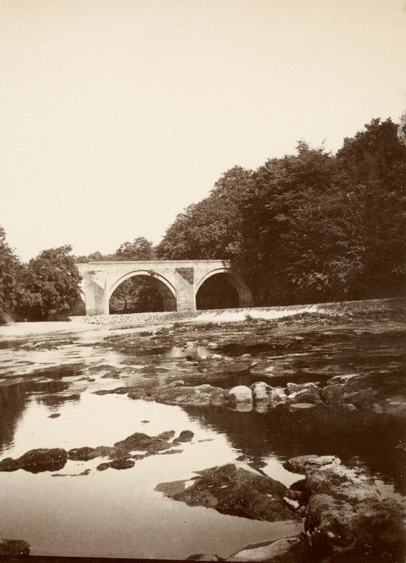 Stair Bridge from south east showing rebuilt lade. From family album of Mr K Montgomerie. Survey of Private Collection
