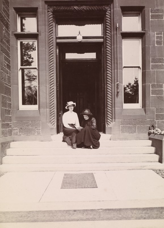 Dalmore House, main entrance. From family album of Mr K Montgomerie. Survey of Private Collection