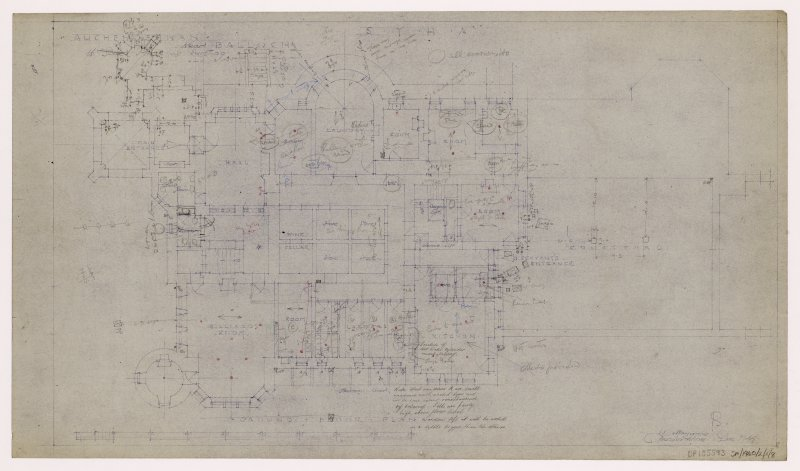 Auchendennan Castle, S.Y.H.A. Ground floor plan.