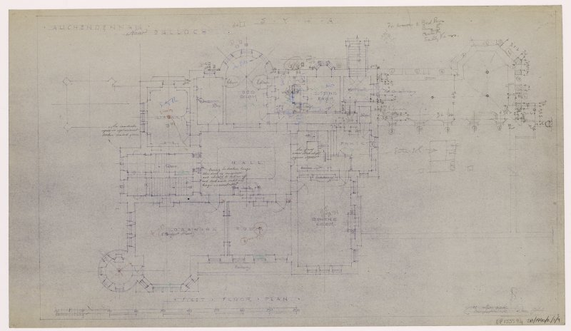 Auchendennan Castle, S.Y.H.A. First floor plan.