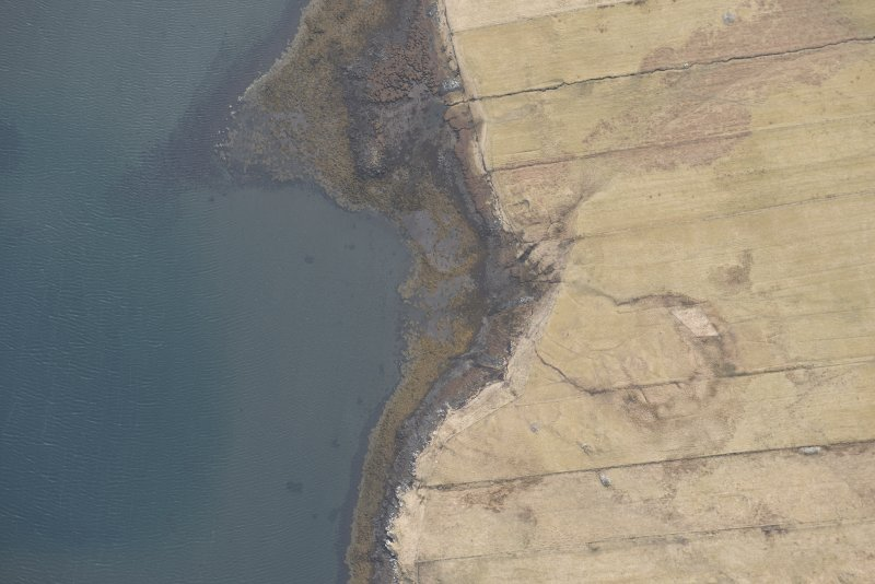 Oblique aerial view of the fish trap at Roag, looking SSW.