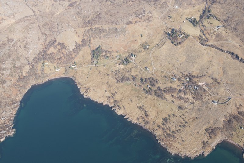 Oblique aerial view of Alligin, looking N.