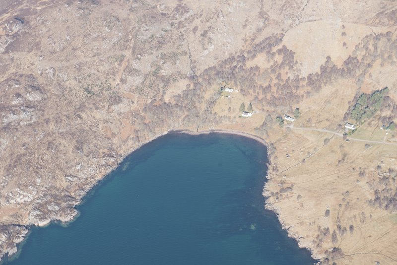 Oblique aerial view of Alligin, looking NW.