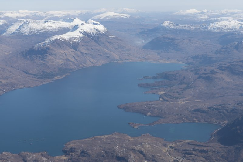 General oblique aerial view of Upper Loch Torridon, looking E.