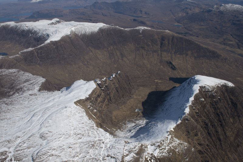 Oblique aerial view of Beinn Bhan, looking ENE.