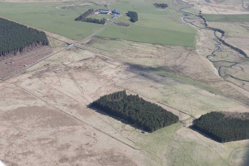 Oblique aerial view of Pennymuir, looking NE.