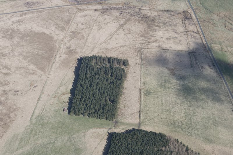 Oblique aerial view of Pennymuir, looking NNW.