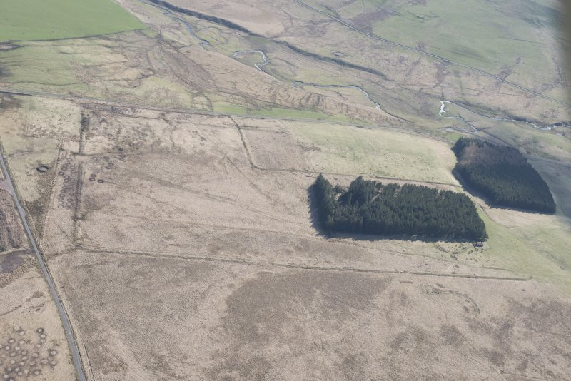 Oblique aerial view of Pennymuir, looking E.