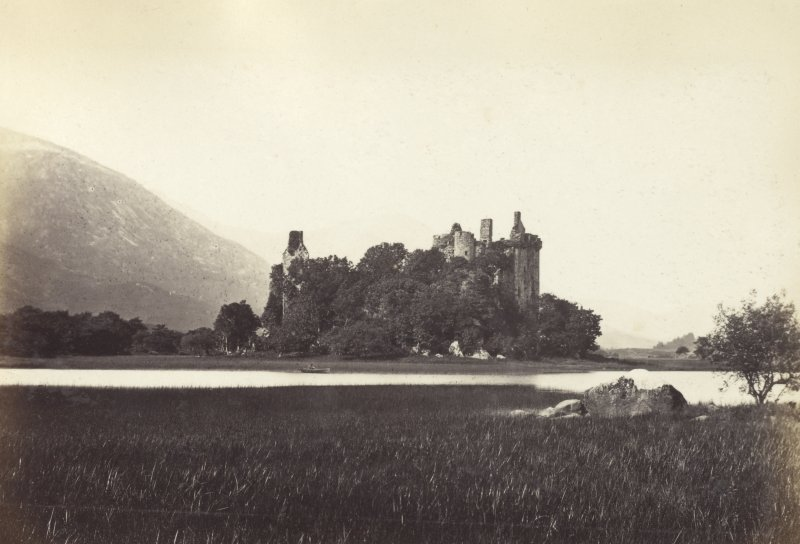 Wide view of Lochawe and Kilcairn Castle, Lochawe, Argyll Titled: '21. Kilchurn Castle. Lochawe,' PHOTOGRAPH ALBUM NO 186: J B MACKENZIE ALBUMS vol.1
