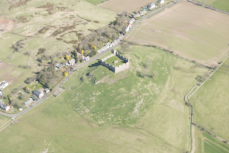 Oblique aerial view of Hume Tower, looking NNE.