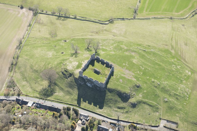 Oblique aerial view of Hume Tower, looking SE.