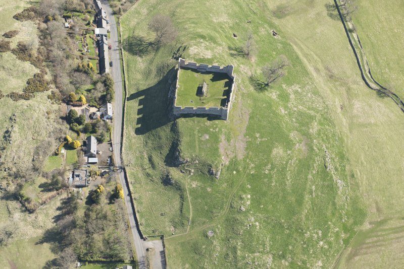 Oblique aerial view of Hume Tower, looking ENE.