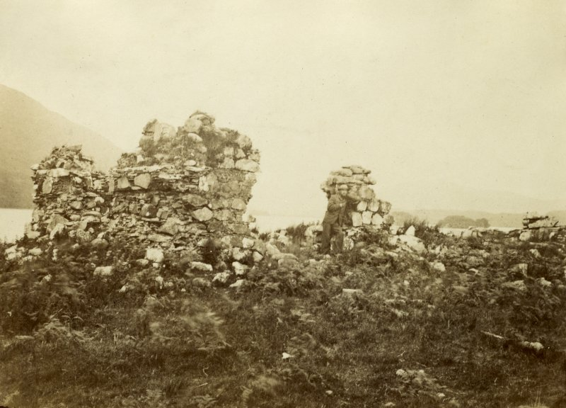 View of the ruins of old Inishail Parish Church, Lorn, Argyll.  Titled: '1. Inishail'. PHOTOGRAPH ALBUM No. 187, (cf PAs 186 and 188) Rev. J.B. MacKenzie of Colonsay Albums,1870, vol.2.