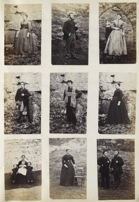 Nine photographic portraits possibly taken at Oronsay Priory, Oronsay.  PHOTOGRAPH ALBUM No. 187, (cf PAs 186 and 188) Rev. J.B. MacKenzie of Colonsay Albums,1870, vol.2.