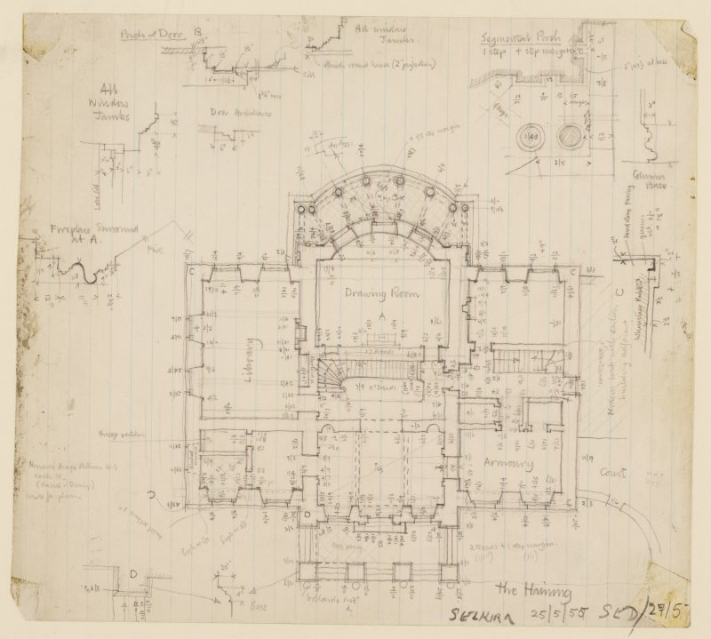 Sketch floor plan, The Haining.
