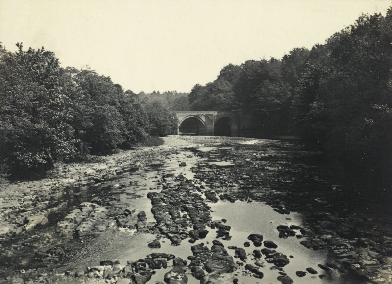 Stair Bridge and weir from west. From family album of Mr K Montgomerie. Survey of Private Collection