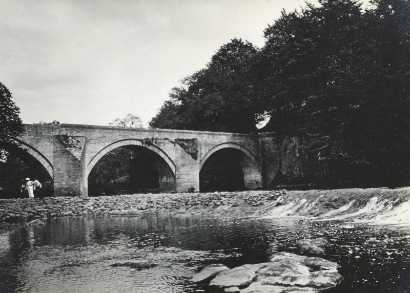 Weir and Stair Bridge from west. From family album of Mr K Montgomerie. Survey of Private Collection