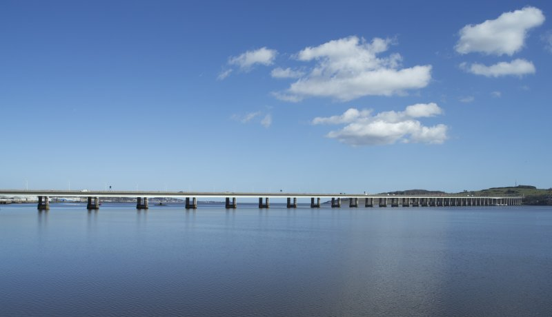 Exterior. View of the Tay Bridge, taken from the north west, adjacent the Olympia leisure centre.