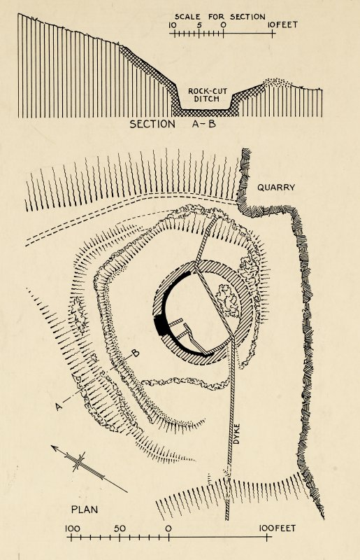 Unpublished plan: fort at Castle Craig.