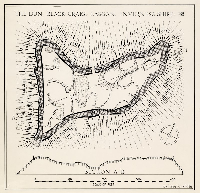 Inked plan: 'The Dun, Black Craig, Laggan, Inverness-shire'.