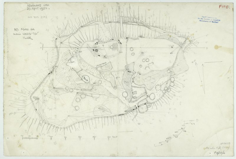 Plane-table survey: fort at Norman's Law.