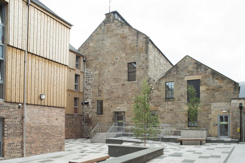 General view of converted brewery building in Sugarhouse Close, 160 Canongate, Edinburgh, from NW.