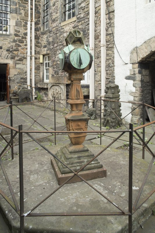 General view of sundial, Huntly House Museum, 146 Canongate, Edinburgh, from SE.