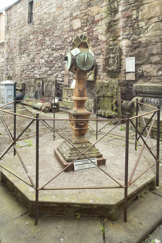General view of sundial, Huntly House Museum, 146 Canongate, Edinburgh, from NE.