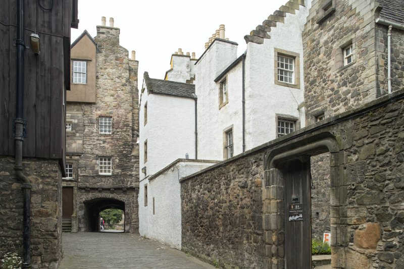 General view of Bakehouse Close, 146 Canongate, Edinburgh, from S.