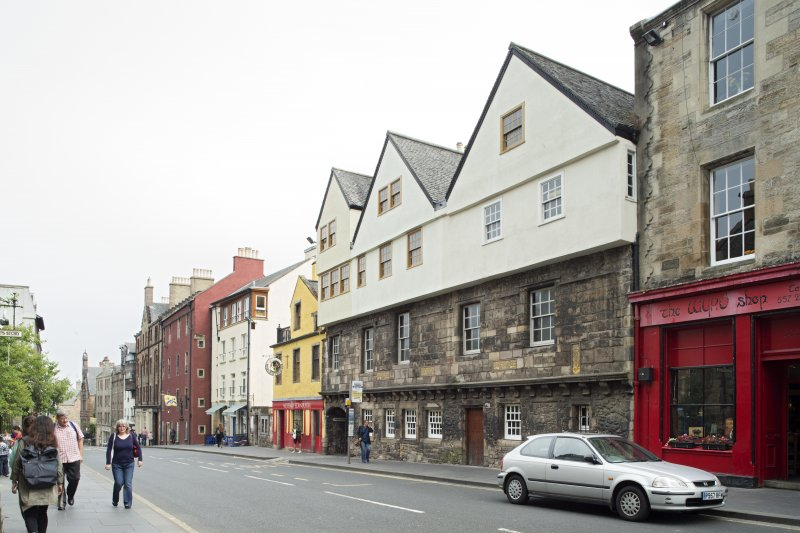 General view of Huntly House Museum, 142-146 Canongate, Edinburgh, from NW.