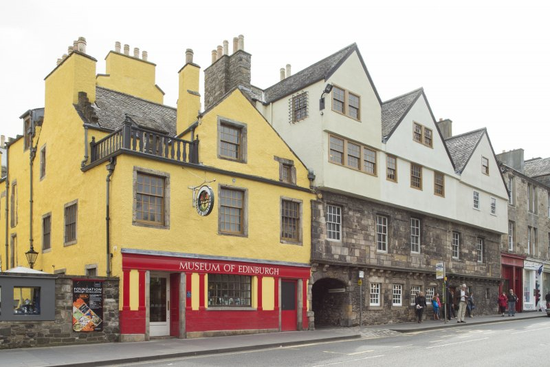 General view of Huntly House Museum, 142-146 Canongate, Edinburgh, from NE.