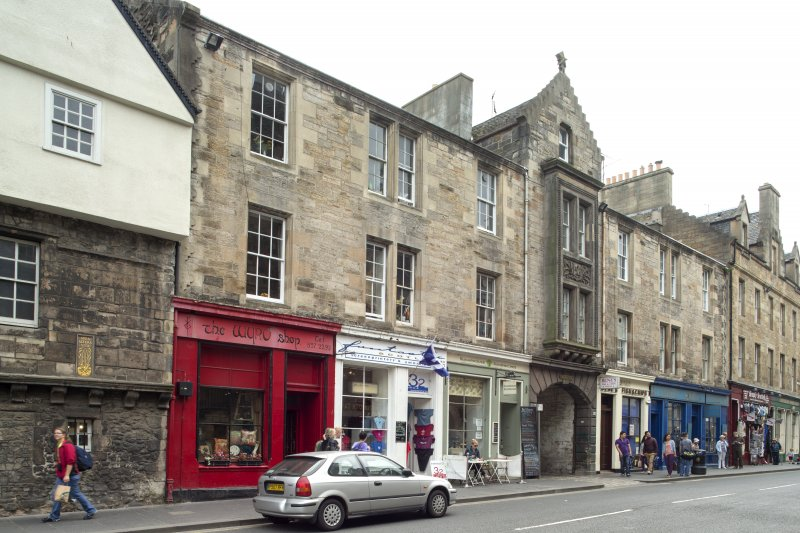 General view of 154-166 Canongate, Edinburgh, from NE.