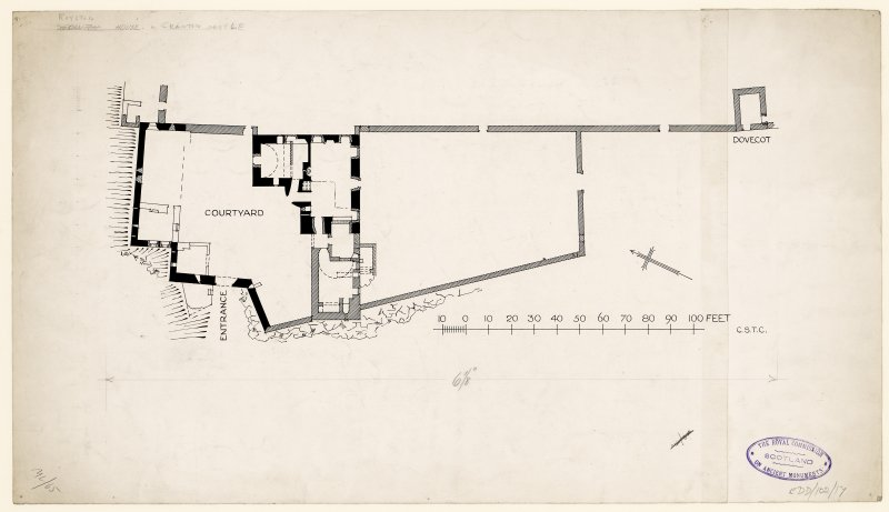 Publication drawing; plan of Granton Castle.