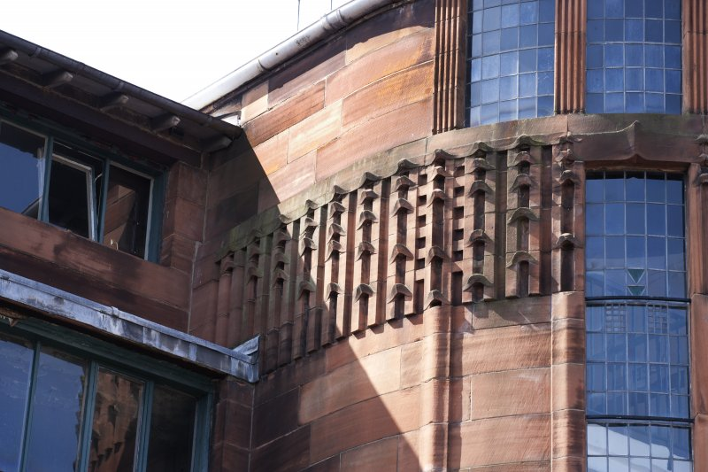 Detail of carving on East stair tower.