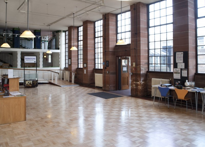 Interior. General view of Drill Hall.