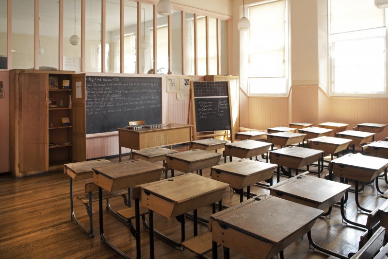 Interior. View of 1950's/1960's Classroom.
