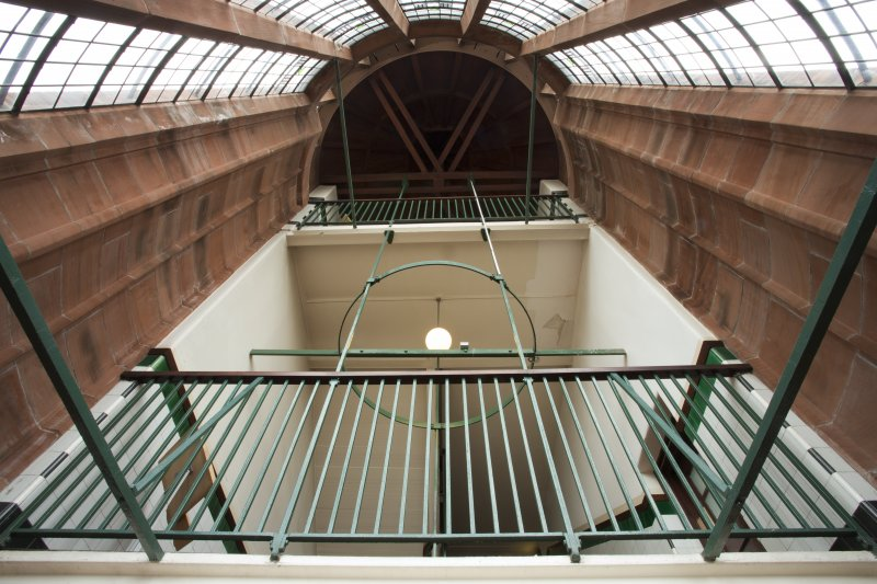 Scotland Street School, Glasgow. Interior. View looking up west staircase tower.