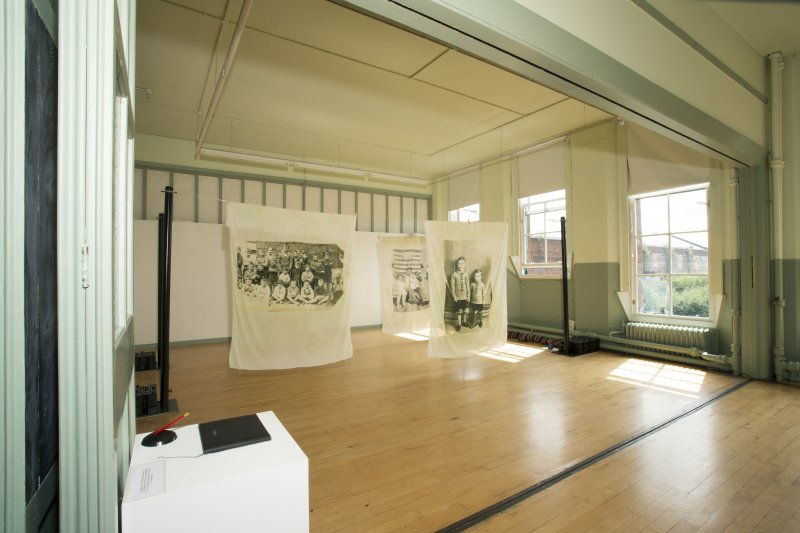 Interior. View of first floor temporary exhibition room.