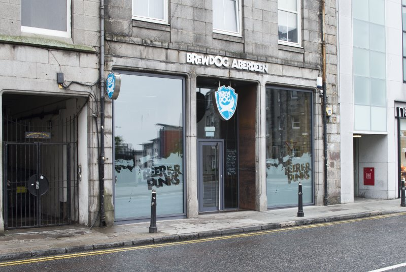 View of the Brewdog Bar frontage, taken from south east