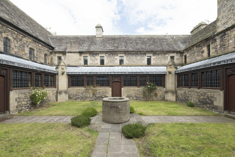 Cloister courtyard, view from west