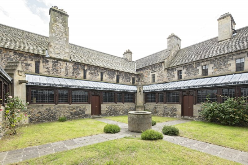 Cloister courtyard, view from north east